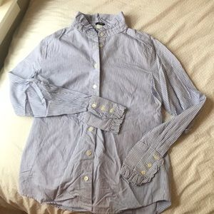 Button up blouse by J. Crew